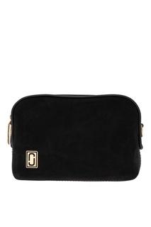 Черная замшевая сумка с логотипом Marc Jacobs