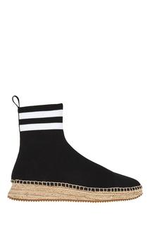 Черные текстильные ботинки Alexander Wang