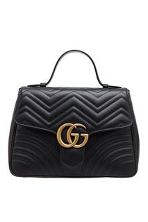 Черная кожаная сумка GG Marmont Gucci