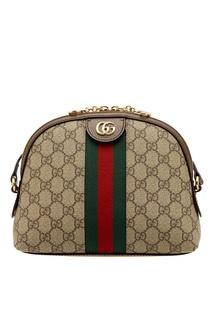 Бежевая сумка с лентой Ophidia Gucci
