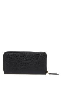 Черный кожаный кошелек с бабочкой Gucci