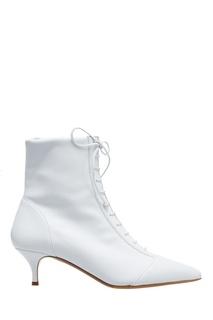Белые кожаные ботильоны Tabitha Simmons