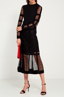 Шелковая юбка с прозрачным краем Alexander Mc Queen