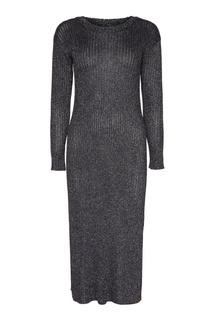 Темно-серое платье с люрексом One Teaspoon