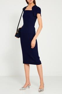 Синее шерстяное платье Roland Mouret