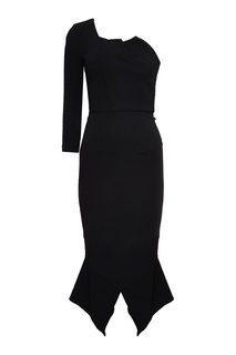 Черное асимметричное платье Roland Mouret