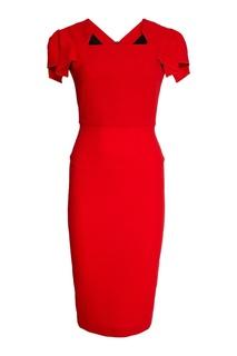 Красное шерстяное платье Roland Mouret