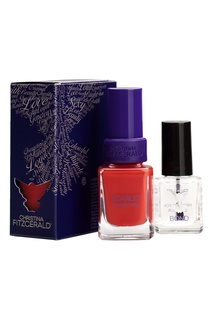 "Лак для ногтей SCARLET Sunset Red Lacquer Culture / ""Алый закат"", 12 ml + Bond-подготовка к покрытию лаком, 9 ml Christina Fitzgerald"
