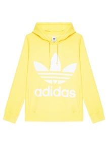 Желтое худи с логотипом Adidas