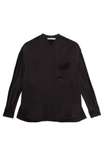 Черная шелковая блузка Vince
