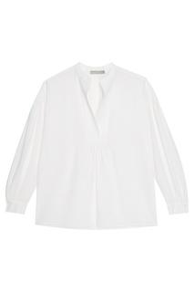 Белая шелковая блузка Vince