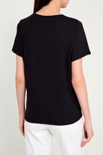 Черная хлопковая футболка с принтом Sorry, im Not