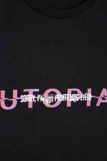 Черная хлопковая футболка с надписью Sorry, im Not