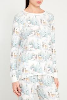 Пижамный лонгслив с оленями PJ Salvage