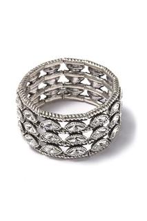 Широкий браслет с кристаллами Philippe Audibert