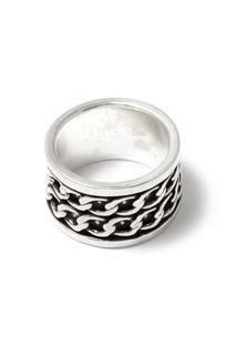 Серебристое кольцо с цепями Philippe Audibert