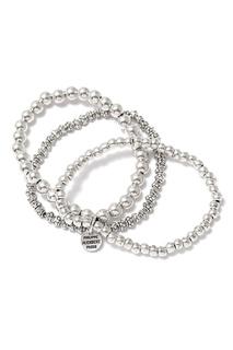 Серебристый тройной браслет Philippe Audibert