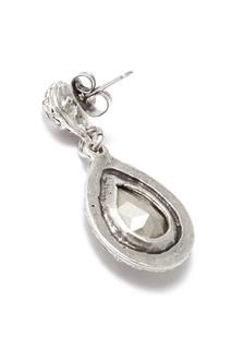 Серебристые серьги с кристаллами Philippe Audibert