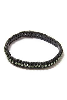 Черный браслет с кристаллами Philippe Audibert