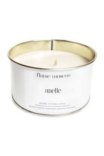 Ароматическая свеча в металле White Metal Anette, 325 g Flame Moscow