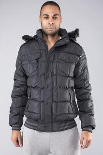 Утепленная куртка со съемным капюшоном Diamond