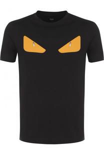 Хлопковая футболка с отделкой Bag Bugs Fendi