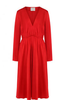 Приталенное платье-миди с V-образным вырезом Forte_forte