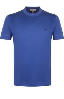 Хлопковая футболка с круглым вырезом Canali