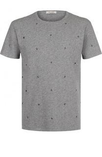 Хлопковая футболка с перфорацией Valentino