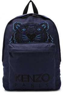 Текстильный рюкзак с контрастной вышивкой Kenzo