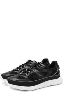 Комбинированные кроссовки на шнуровке Dior