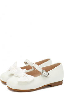 Кожаные туфли с бантами на ремешках Il Gufo
