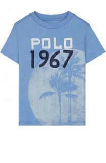 Хлопковая футболка с принтом Polo Ralph Lauren