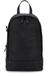 Текстильный рюкзак на одно плечо с камуфляжным принтом Valentino