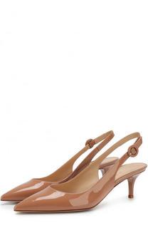 Лаковые туфли Anna на каблуке kitten heel Gianvito Rossi
