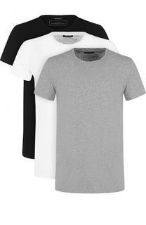 Комплект из трех хлопковых футболок с круглым вырезом Balmain