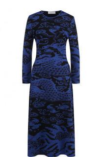 Приталенное платье-миди с длинным рукавом Tak.Ori
