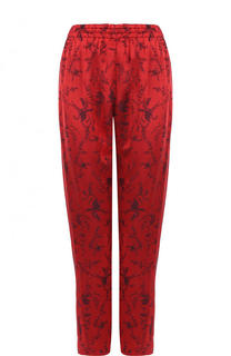 Укороченные брюки с принтом и эластичным поясом Forte_forte