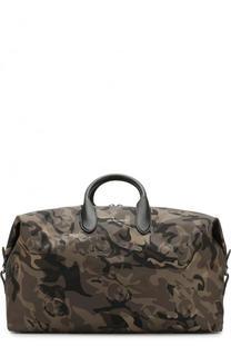 Текстильная дорожная сумка с плечевым ремнем Alexander McQueen