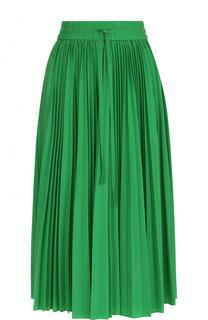 Однотонная плиссированная юбка-миди REDVALENTINO