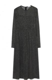 Шелковое платье-миди в горох REDVALENTINO