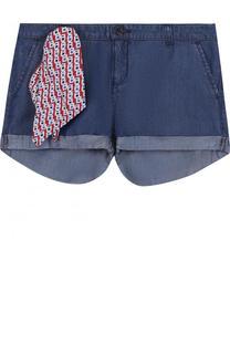 Мини-шорты с декоративным платком Armani Junior