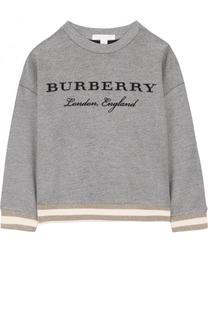 Хлопковый свитшот с вышивкой Burberry