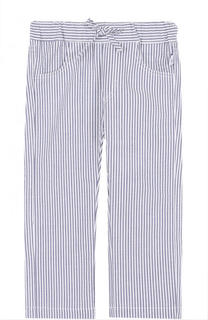 Хлопковые брюки в полоску на кулиске Il Gufo