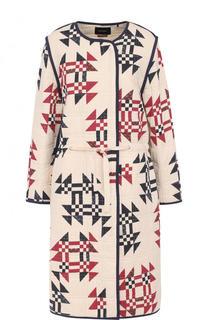 Хлопковое буклированное пальто с круглым вырезом Isabel Marant
