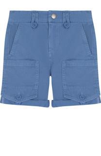 Хлопковые шорты с накладными карманами Stella McCartney