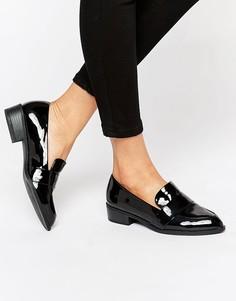 Лакированные туфли с острым носком River Island - Черный