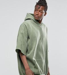 Окрашенное oversize‑худи с короткими рукавами Reclaimed Vintage - Зеленый