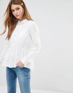 Рубашка с баской JDY - Белый