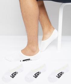 3 пары белых классических носков Vans VXTTWHT - Белый